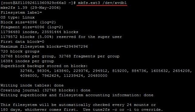 格式化和挂载数据盘